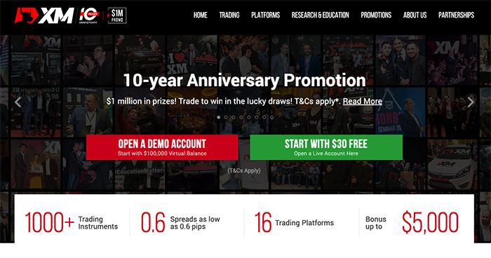 XM Homepage Image