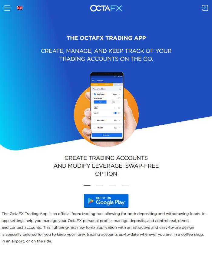 OctaFX Trading App