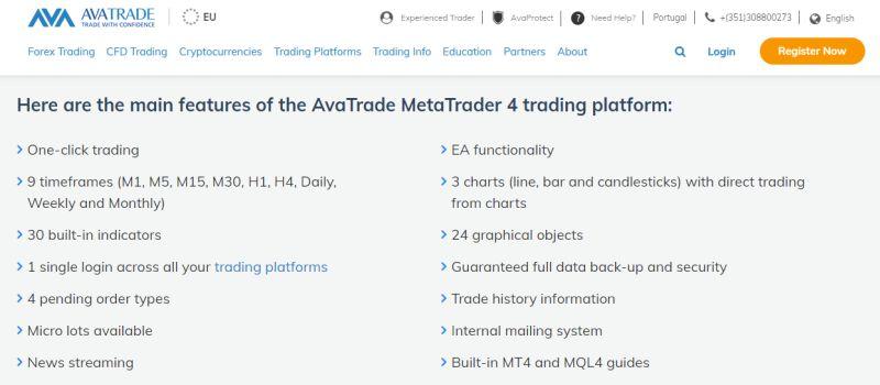 AvaTrade MT4 small