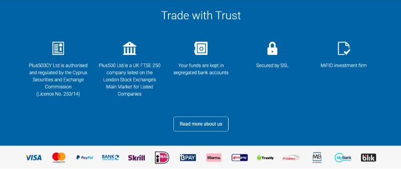 Plus500 Trade with Trust